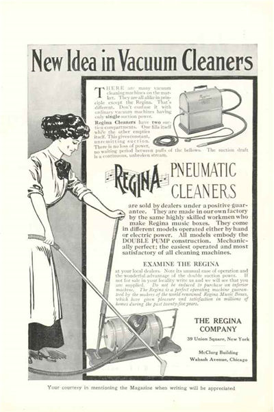 Picture Of An Advertisement For A Pneumatic Vacuum Cleaner