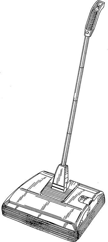 Picture Of Patent Illustration Of A Carpet Sweeper